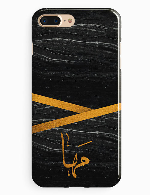 Black Marble With Custom Name Phone Case Lacellki Store